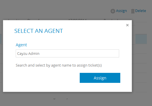 Assign/delete help desk tickets in bulk