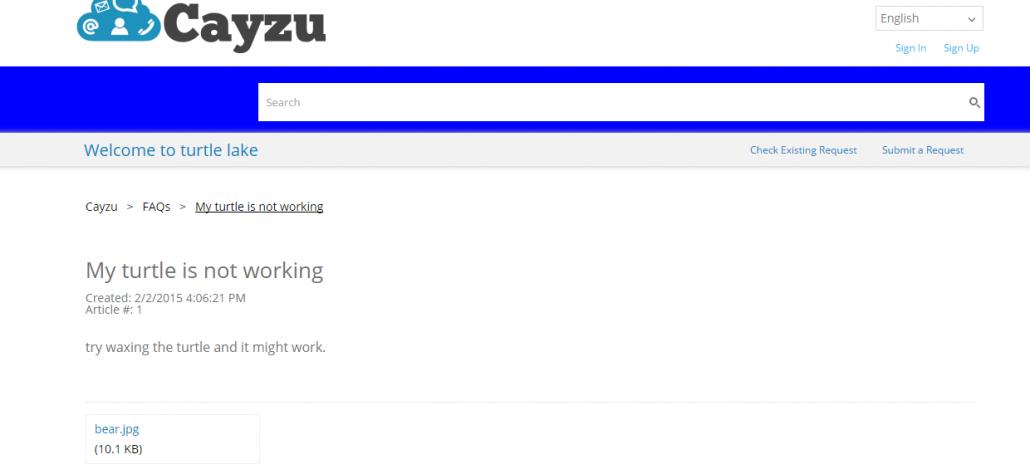 FAQs, Topics, News Attachments - Cayzu Help Desk