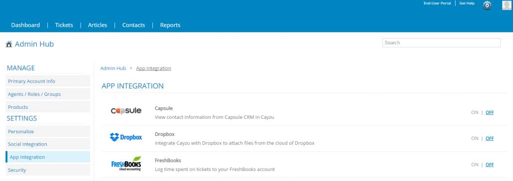 Capsule CRM - Cayzu Help desk