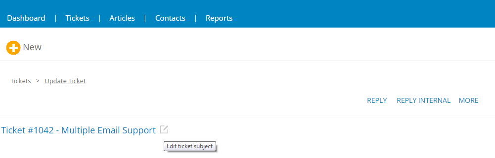 Edit Ticket Subject - Cayzu Help Desk