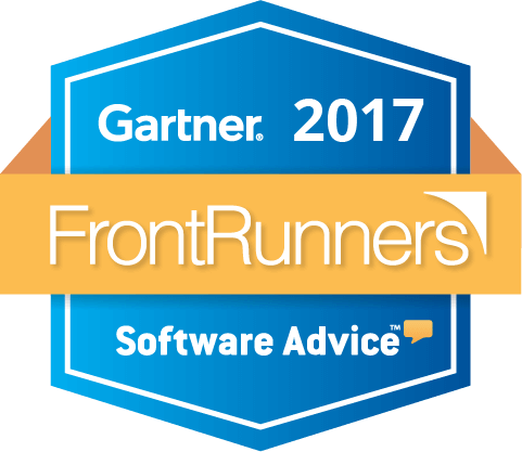 FrontRunners Badge Gartner 2017 Software Advice