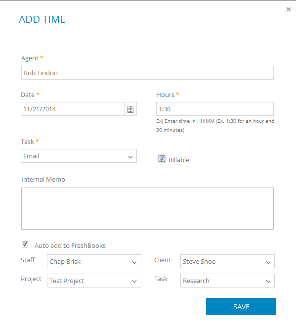 Auto sync your time & billing into Freshbooks