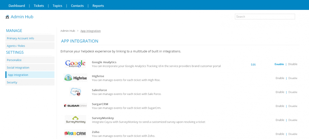 Get more out of your help desk with built in integrations
