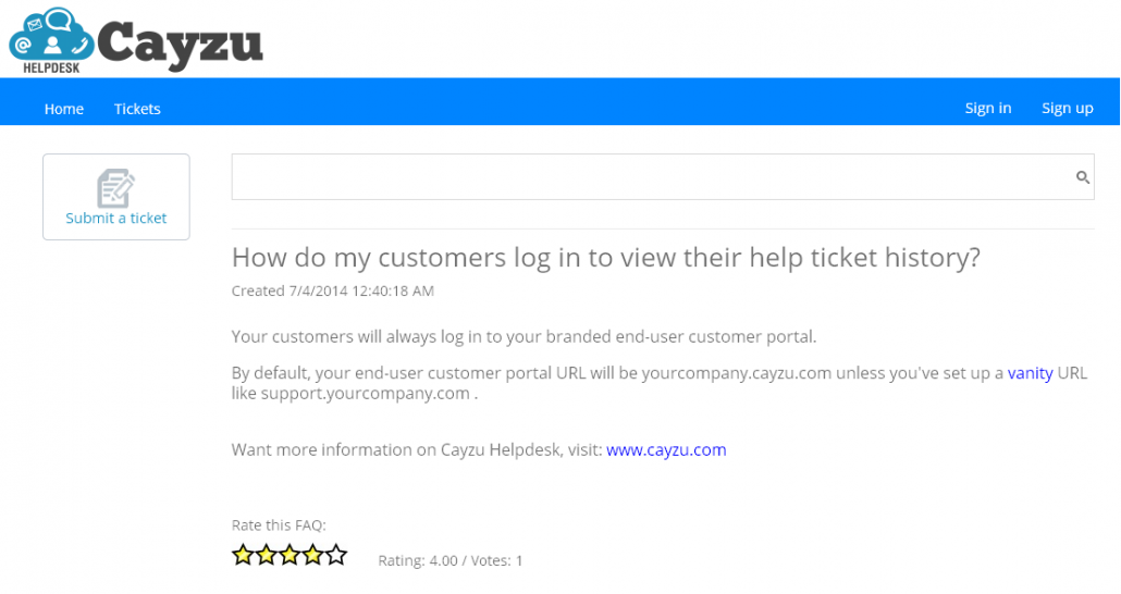 Find your most useful FAQs with user created ratings