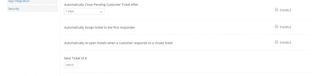 Set a starting ticket ID - Cayzu Help Desk