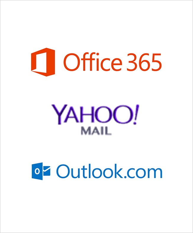 Cayzu Helpdesk can support Office 365 Yahoo Mail and Outlook.com