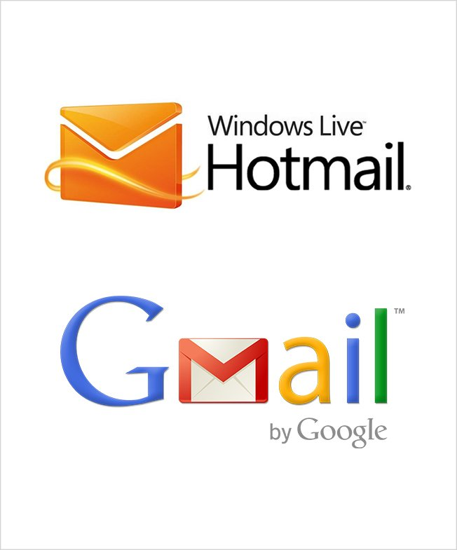 Cayzu Helpdesk can support Windows Live Hotmail and Gmail