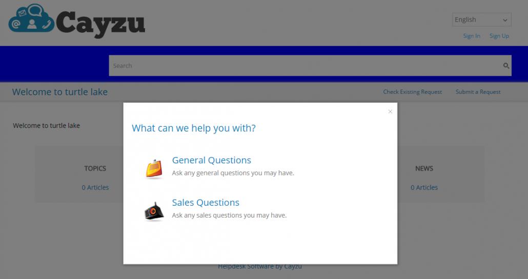 Custom Forms - Cayzu Help desk